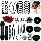 Accessori Per Capelli,25 Tipi set di acconciature Hair Styling Tool, Mix Accessori Set Gioielli per Capelli Donne Ragazze per DIY