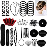 Accessori Per Capelli,25 Tipi set di acconciature Hair Styling Tool, Mix Accessori Set Gioielli per...