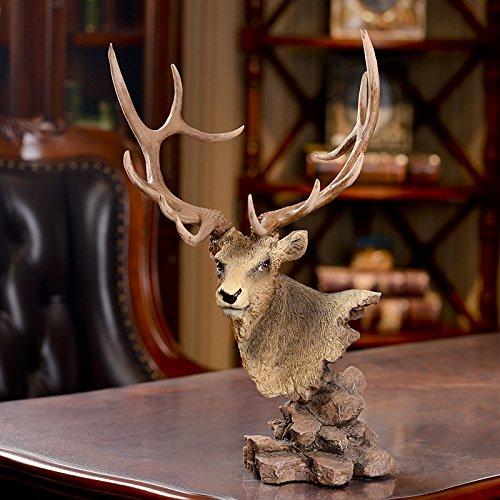 Cervi di vero lusso teste montato cervo testa di cervo dorato decorativo testa resina mestieri 31 * 29 * 49cm - Caccia Dei Cervi Decor