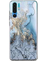 Hülle Case Kompatibel für Huawei P30 Handyhülle,Huawei P30 Pro Schutzhülle Ultradünn Transparent Silikon Soft TPU Crystal Clear Bumpe Schutzhülle für Huawei P30 Lite