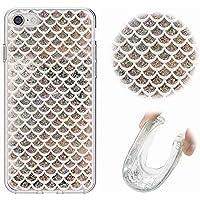Funda iPhone 6 Plus Funda iPhone 6S Plus Carcasa, MingKun Brillante Cristal Arenas Movedizas Transparente Caso para iPhone 6S Plus Funda/iPhone 6 Plus 5.5 Pulgada TPU Gel Bumper
