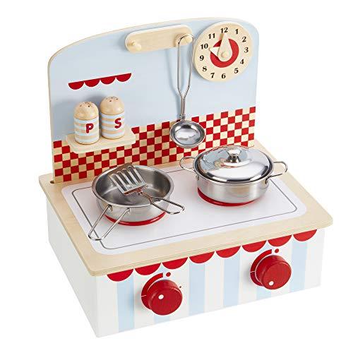 My Play Cucina in Legno Giochi per Bambini Set con pentole e Utensili età 3+ (Cucina Playset con padelle)