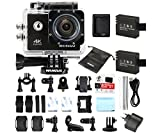 WiMiUS Actioncam 4k Action Cam HD Action Kamera Wifi Actionkamera 16MP Sport Kamera mit 2 Akkus 2.0...