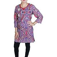 RoyaltyLane -  T-shirt - Tunica - A righe - Collo a U  - Maniche a 3/4 - 85 DEN - Donna