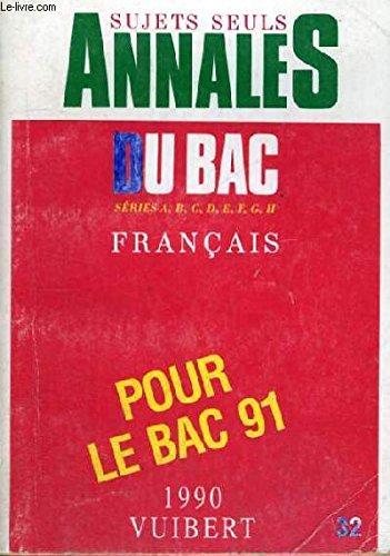 ANNALES FRANCAIS TOUTES SERIES. Programme de 1990. N°32