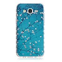 For Samsung Galaxy J5(2015) Case, Samsung Galaxy J5008 Case [With Tempered Glass Screen Protector],idatog(TM) Soft Silicone Bumper Ultra Thin Slim Flexible Cover Case ,High Quality TPU with Colorful Cute Printed Pattern Fashion Design Protective Back Rubb