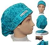 Chapeaux chirurgical Eaux Bleues pour les cheveux longs. Absorbeur avant Facile ajustable. Personnalisé avec...