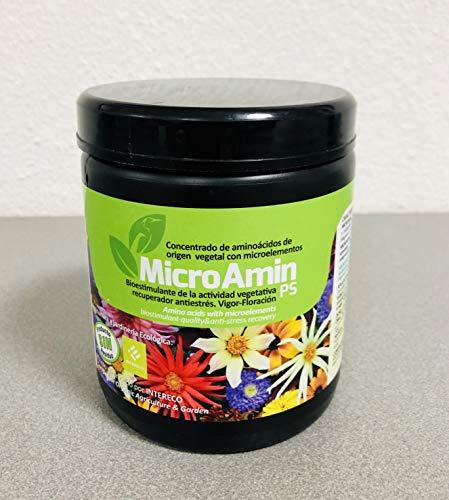 MICROAMIN® (2.000 m2); Complejo nutricional Aminoácidos y microelementos (Hierro, Zinc, etc). Plantas, Flores y Cultivos. Ecológico