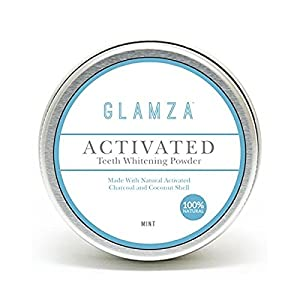 WHITE FIRST - x12 Poudres de blanchiment des dents au charbon actif (Activited charcoal teeth whitening powder) Glamza White First 100% Naturel | désinfecte | Résultat rapide | Efface les taches ainsi que la décoloration | Aide à combattre les bactéries E