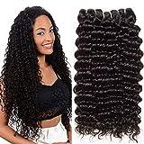 Clarolair capelli umani ricci extension di capelli ricci brasiliani naturali capelli ricci extension capelli veri 95g±5g/pc nero naturale 10 12 14 inch