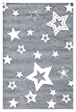 Kinderteppich Love Rugs Starlight grau/Weiss 130 x 190 cm
