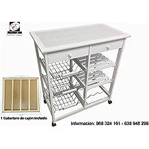 Mueble Gestion Verdulero Frutero Bahia 3 Blanco (1 Cubertero Incluido)