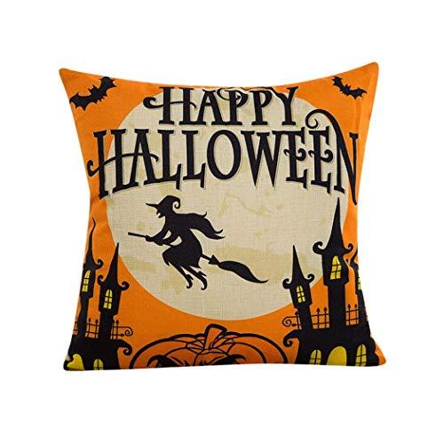 Halloween Dekorationen Rabatt - Rabatt. viahwyt Happy Halloween Flachs Kissenbezug