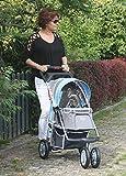 """InnoPet """"First Class"""" Hundebuggy Jogger Buggy Hundetasche Hundewagen Pet Stroller blau grau"""