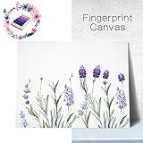 PLYY Lavendel Fingerabdruck Baum Leinwand Malerei DIY Gästebuch Anmeldung Buch Fingerabdrücke Baum Malerei für Hochzeit Geburtstag Party mit 4 stücke Stempelkissen