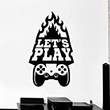 ELTON Let's Play Game Room Decal Sticker Wall Vinyl Art Design Gamer Cool Funny Game Room