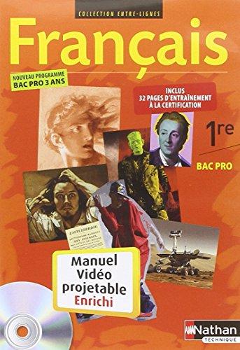 Français 1re Bac Pro 3 ans - CD-Rom du manuel vidéoprojetable enrichi par Collectif