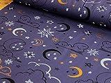 Lillestoff Glitzer Traum Sonne Mond Sterne Gute Nacht