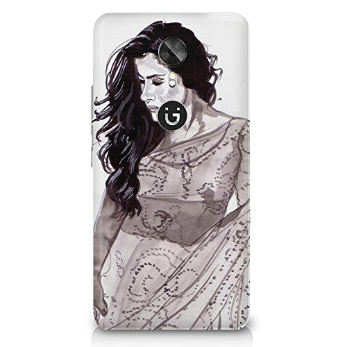 Kajol in saree sketch design Gionee A1 all side printed hard back...