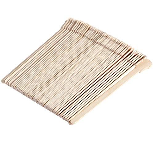 Lurrose 500 stücke Kleine Wachs Spatel Holz Wachs Applikator Sticks für Gesichts Haarentfernung (Original Holz Farbe) -