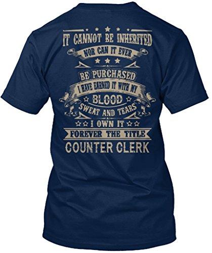 Stylisches T-Shirt Damen / Herren / Unisex L COUNTER CLERK Marineblau