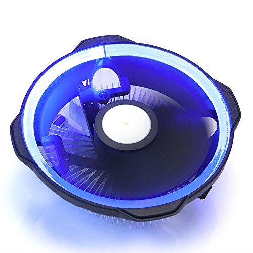 GOLDEN FIELD LY CPU Kühler mit 120 mm Heiligenschein LED Lüfter - Prozessorkühler für AMD und Intel Sockel - Multkompatibel Blau