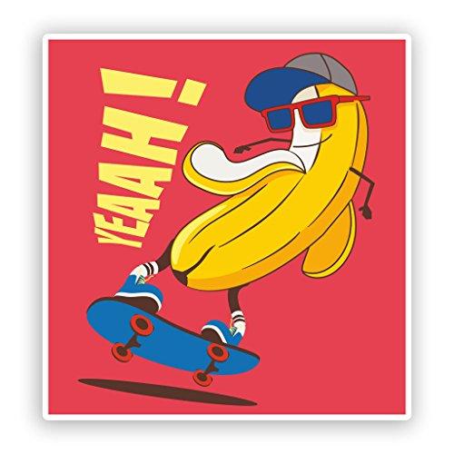 2x Yeahh. Funny Banana Vinyl Aufkleber Skaten # 7630 - 30cm/300mm Wide (Skaten-aufkleber)