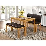Greenheart Furniture (UK & Ireland) Dining Table & 2 Bench set
