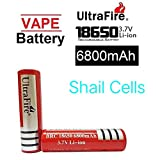 Ultrafire BRC 3.7V 18650 Rechargeable Li-ion Button Top Battery 6800mAh for Led Torch