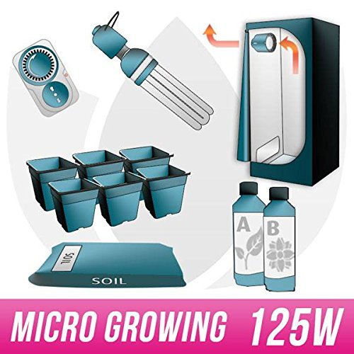 Galleria fotografica MICRO GROWING KIT Terra 125W CFL + Grow Box - Micro Growing