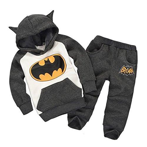 Vogholic Unisex Kinder Nette Karikatur Bat Fleece Pullover Hoodie + -Hosen B130Cm