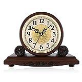 WJB Kaminuhren Sperren Sie Retro-Mode im Zimmer Dekoration einfach nach Hause sitzen Glocke aus Holz