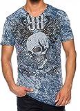 Carisma Herren T-Shirt Designer Mode Men's Wear Stylisches Sommer T-Shirt Totenkopf T-Shirt in Verschiedenen Variationen