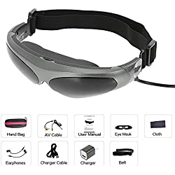 docooler 922A Head-Mounted Vidrios Pantalla FPV 80 Pulgadas Virtual de la Pantalla Ancha Gafas de Video Inteligente Entrada AV para Blu-ray DVD Aviones No Tripulados MP5 PS3 XBOX TV Salida AV