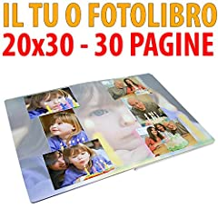 Idea Regalo - STAMPA IL TUO FOTOLIBRO FORMATO 20X30 DA 30 PAGINE - GRAFICA OMAGGIO FL39SCONTOFOTO