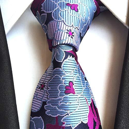 FDHFC Blau Marineblau Weiß Rot Gelb Gold Blume Jacquard Woven Silk Krawatte Krawatte Für Männer 6 Farben Slim Krawatten 6Cm 1200