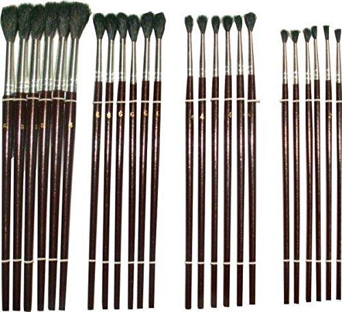 Preisvergleich Produktbild Pinsel Set 24 Stück Malerpinsel für Wandfarbe Autolack