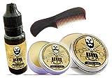 La Barba y el Maravilloso Grooming Set. peine, barba Bálsamo, aceite para barba, bigote Cera