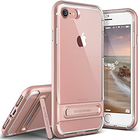 iPhone 8 Case / iPhone 7 Case VRS Design Transparent Case [Rose Gold] Shockproof Protective Cover Heavy Duty Bumper Case Premium TPU Hard PC Cover [Crystal Bumper] for Apple iPhone 8 / Apple iPhone 7
