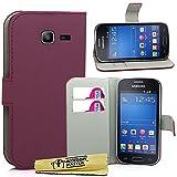 Accessory Master Custodia Libro Portafoglio in Pelle PU per Samsung Galaxy Trend Lite S7390, Viola