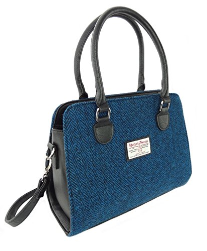 Harris Tweed Lb1003, Damen Tote-Tasche Blau Col66