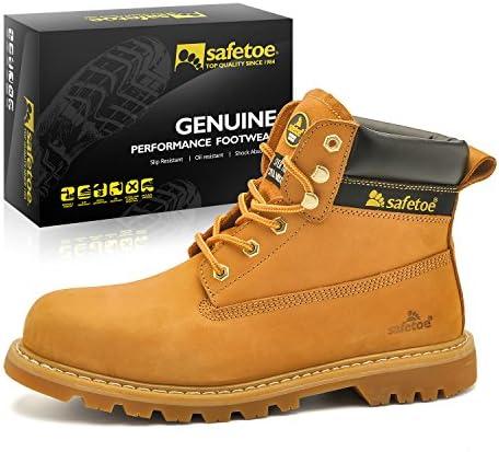 Botas de Seguridad de Moda para Hombres - Safetoe 8173 Botas de Trabajo Industriales con Puntera de Acero Color...