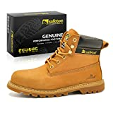 SAFETOE Mens Safety Steel Toe Work Boots Shoes M8173 Women Wide Fitting Goodyear Steel Toe Capped Boots Trainers Size