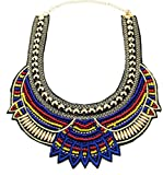 Fashion hecho a mano étnico gargantilla collar babero collar multicolor cuentas declaración collar boho mujeres joyas