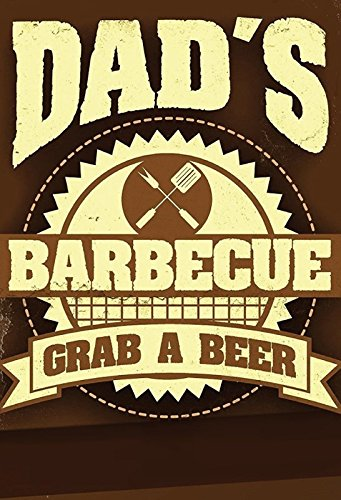 Dads barbeque BBQ grill schild aus blech, metal sign, tin