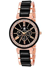OCTIVO MARTIN OM-CH 2052 Classy Two Tone Rose Gold Chronograph Pattern Analog Watch For Women