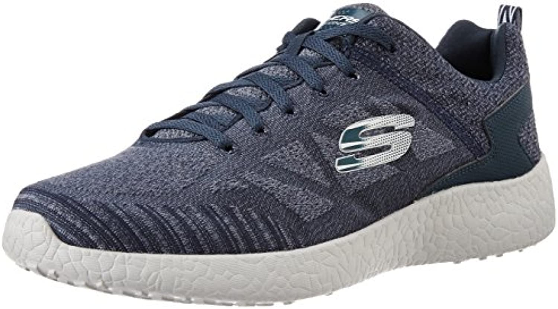 Skechers 52106/LGBK Sneakers Herren Stoff Grau Grau