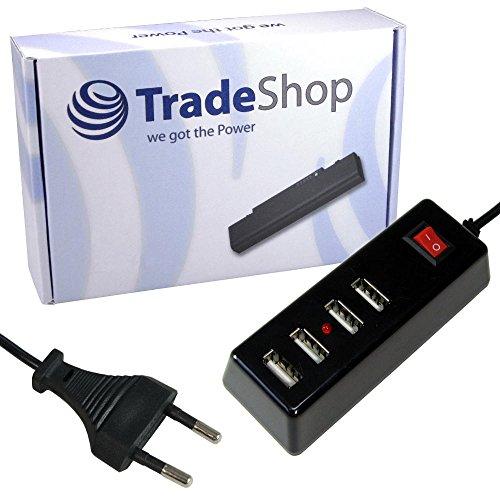 4-fach USB Mehrfachstecker Steckerleiste Universal Ladegerät Strom Adapter mit Ein-/Aus-Schalter für die Steckdose