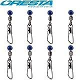 Cresta Feeder Swivels Safe-Bead - 8 Angelwirbel Zum Feederangeln, Wirbel Zum Feedern, Karabinerwirbel Zum Angeln auf Friedfische, Größe:12