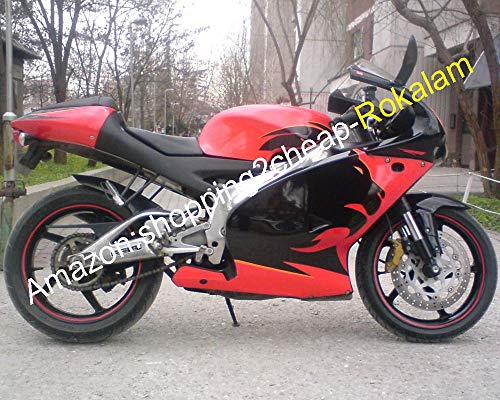 Kit de carénage pour moto Aprilia RS 125 ABS 2001 2002 2003 2004 2005 RS125 01 02 03 04 05 Noir Lionhead Rouge